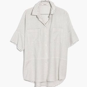 Madewell Striped Flannel Courier Shirt